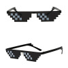 Thug Life Glasses 12 Pixels Black Deal With It Mosaic Party Sunglasses