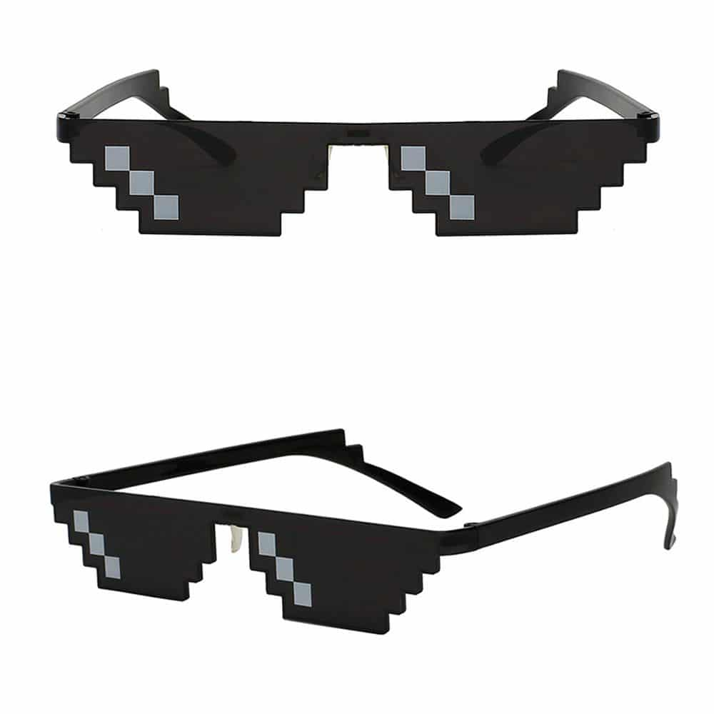 [6 Pixels] Thug Life Sunglasses, Deal With It Mosaic Party Sunglasses
