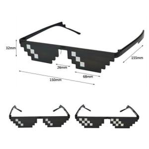 [12 بكسل] النظارات الشمسية ثاج لايف, حياة العصابات, تقبل الأمر, نظارات الفسيفساء للحفلات