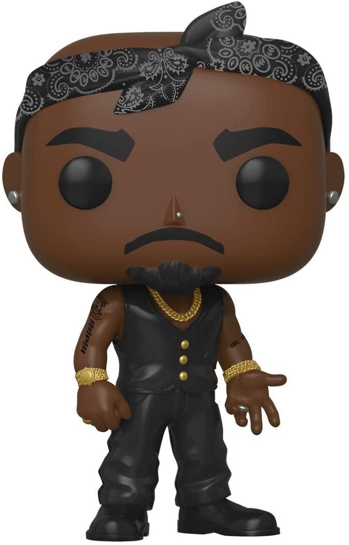 Funko Pop! Rocks: Tupac Shakur with Vest and Bandana Vinyl Figure