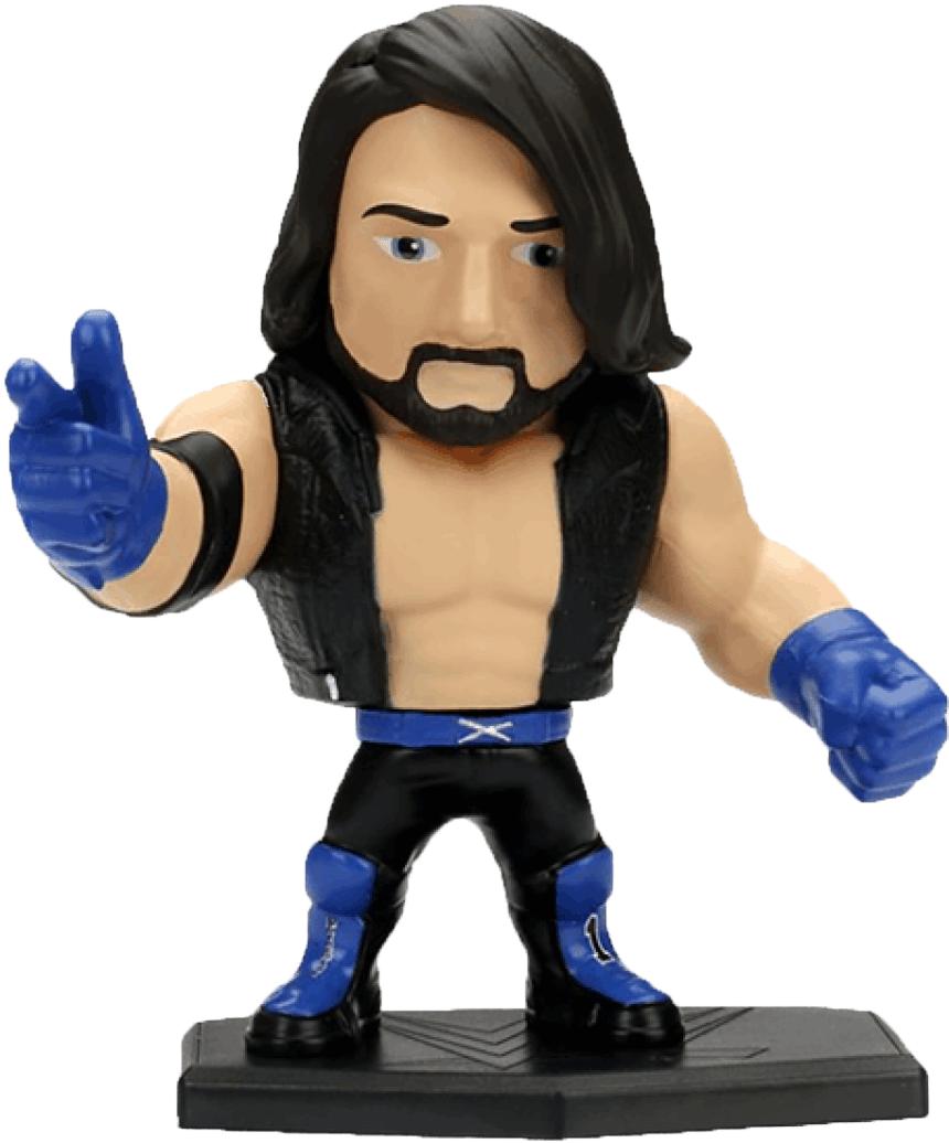 """WWE Metals Die Cast 4"""" AJ Styles Figure (M218)"""