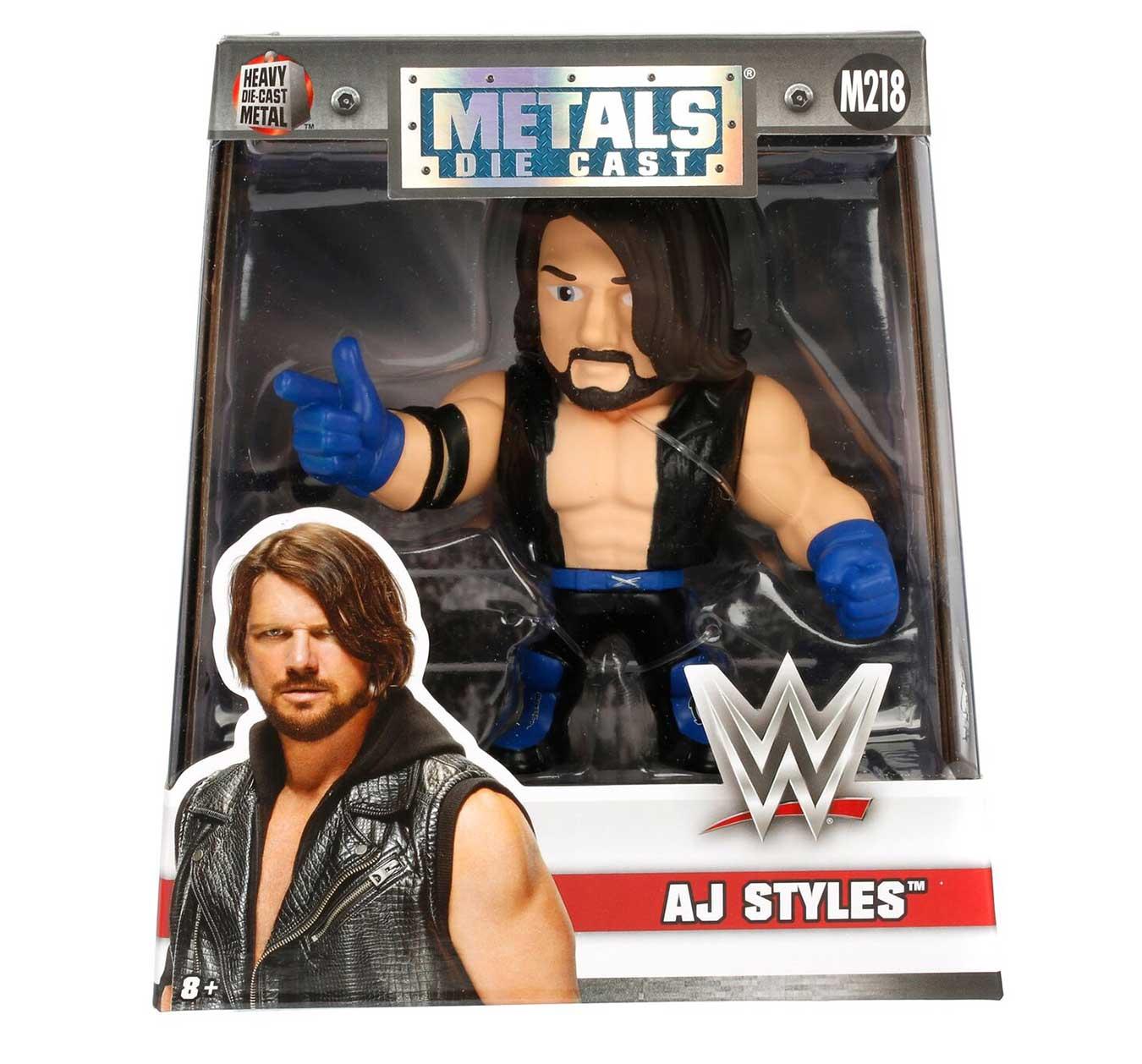 """WWE Metals Die Cast 4"""" AJ Styles Figure (M218) 2"""