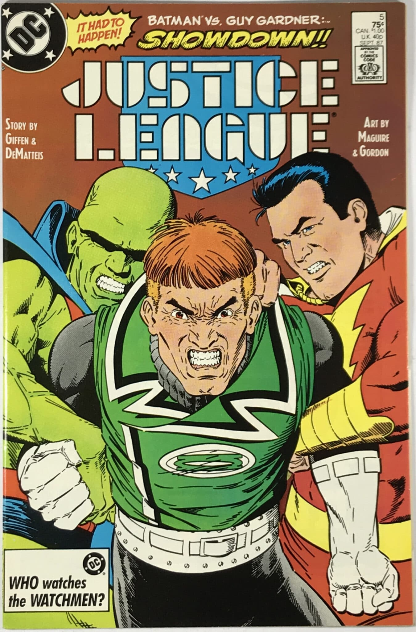 Justice League Vol. 1 (1987) #5 - Very Fine 1