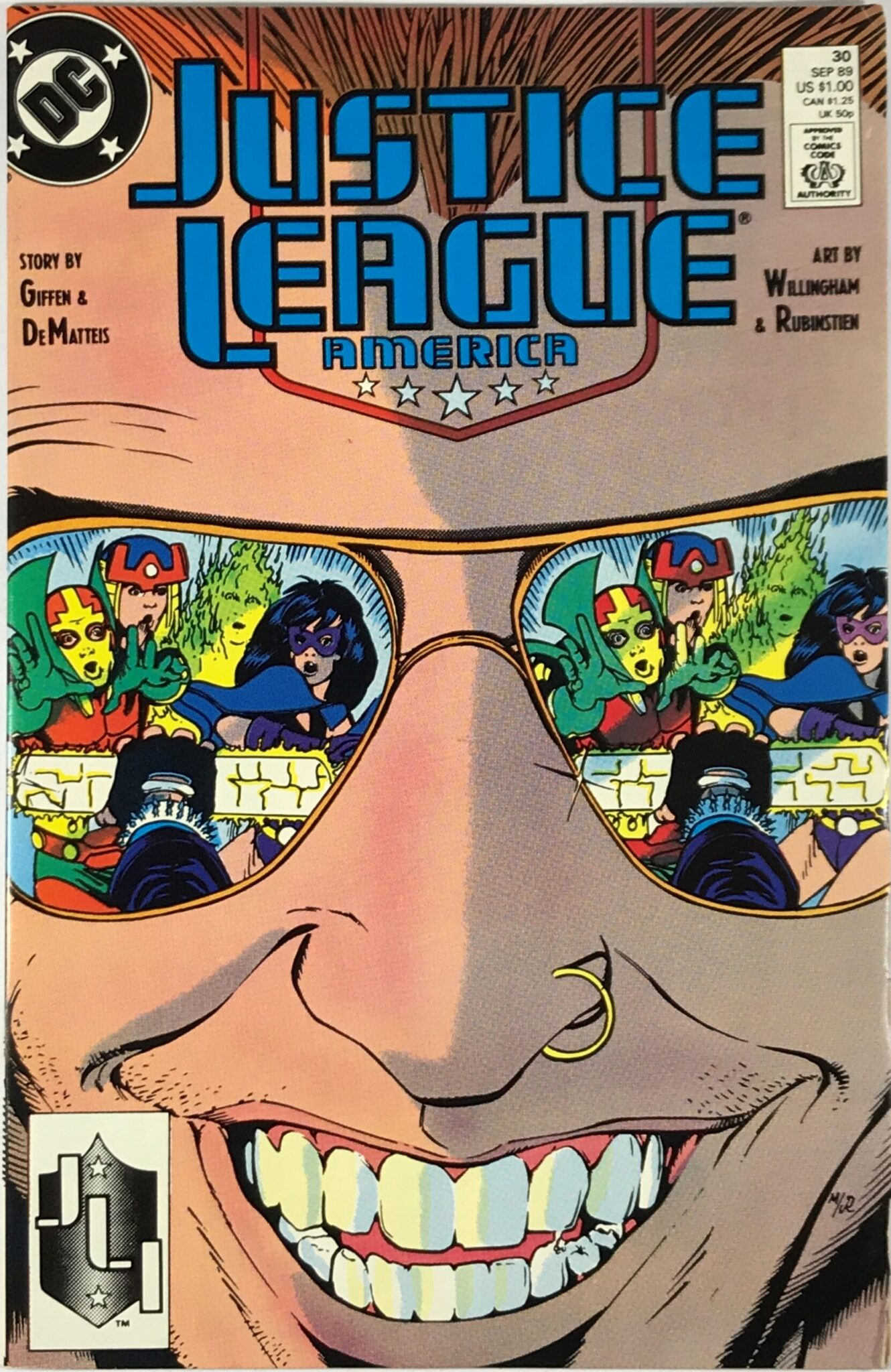 Justice League America (1989-1996) #30 - Very Good 1