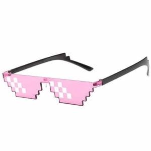[12 بكسل] النظارات الشمسية ثاج لايف وردي, حياة العصابات, تقبل الأمر, نظارات الفسيفساء للحفلات