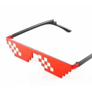 Thug Life Glasses 12 Pixels Red Deal With It Mosaic Party Sunglasses