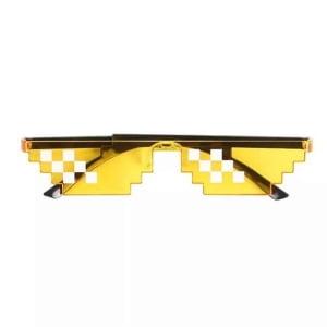 [12 بكسل] النظارات الشمسية ثاج لايف صفراء, حياة العصابات, تقبل الأمر, نظارات الفسيفساء للحفلات